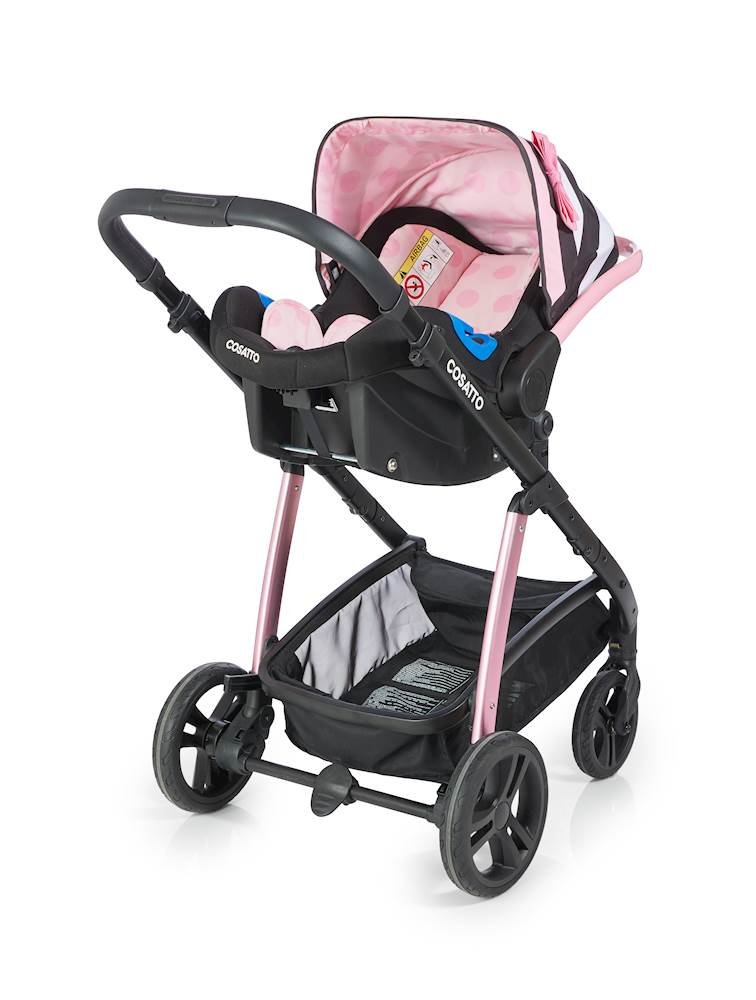 Cosatto Wow Pram and Pushchair, from Birth Carrycot and Pushchair Suitable upto 25 kg, GoLightly 3 Cosatto Backed by science, Cosatto prams are ideal for your baby; the patterns in Cosatto hoods are designed to stimulate your baby with bright, eye-catching colour and storytelling pattern Includes the from-birth carrycot (suitable for occasional overnight sleeping), then swap to pushchair unit, suitable up to 25 kg, with parent and world facing options and four recline positions Easy one-handed features, push-button carrycot removal, seat recline and calf support 4