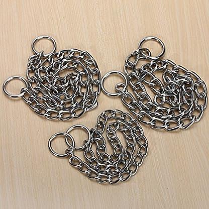 Kungfu Mall Pet Strong Steel Metal Training Pet Choker Chain Collar (S) 2