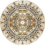 Indiano Zen luminoso colorato rotondo tappeto Super Soft Mat antiscivolo assorbe zerbino lavabile tappeto d'ingresso tappeto scarpe soggiorno sedia stuoia cuscino Tappetino riutilizzabile e durevole