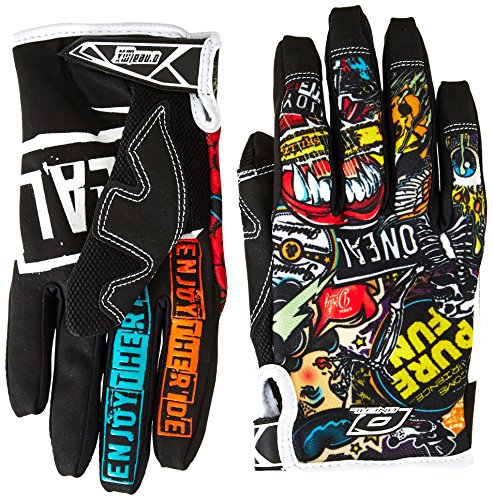 O'Neal Jump Crank MX DH FR Handschuhe, Schwarz, XXL (Leder Herren Bike Handschuh)