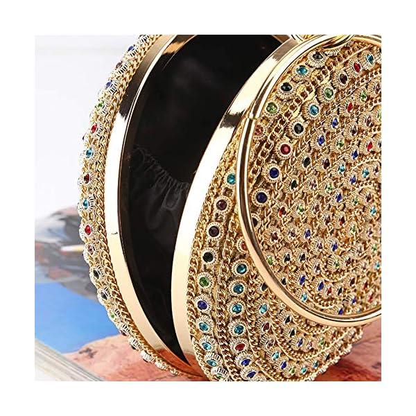 615sljbcH0L. SS600  - HARPIMER Mujer Monedero de embrague de bolso de noche de cristal de diamantes de imitación multicolor para boda y fiesta