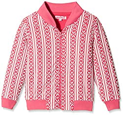 Nauti Nati Baby Girls Jacket (NAW15-213_Pink_9-12 Months)