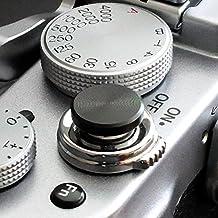 Morbido pulsante di scatto alluminio, nero (piano, scanalato 10mm) per