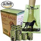 Sacchettini per bisogni dei cani, biodegradabile, 180sacchettini, 12rotoli con 15 borsette per rotolo. Progettati da 2Vets, questi sacchettini per bisogni dei cani sono 100% riciclabili ed eco-friendly. By Simply Pets Online.
