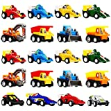 Tisy TOY Pull Back Cars for Kids, 20 Pack Toy Cars for 2