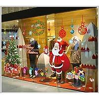 FINEJO New Christmas Wall Sticker DIY Santa Claus Xmas Tree Window Home Decoration
