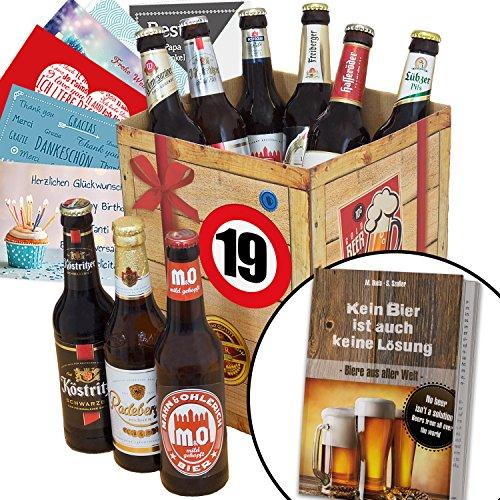 Mädchen Geburtstag-geschenk-körbe Für (Geschenk Ideen zum 19. für Männer - Bier Geschenk Box + Bier Buch + gratis Geschenkkarten + Bierbewertungsbogen. Bierset + Biergeschenk. Bier-Geschenk-Korb für den Mann zum Geburtstag Geschenkset mit Bier für Ihn zum 19ten Bierbox zum 19. Geburtstag für Freund Biergeschenk für Bruder und Freund Geburtstag Geschenkidee Männer Geburtstagsgeschenk lustig für Männer Geschenk Bier für Männer zum 19.)