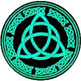 La protezione del nodo celtico del flusso eterno di energia e tempo con Fissaggio Chiusura a uncino e asola Ricamata Brilla N