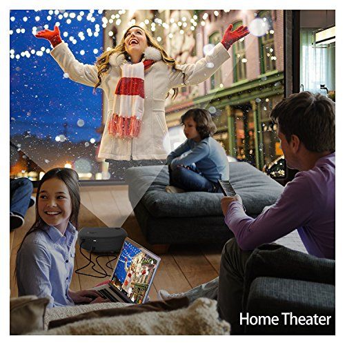 Bargain Full HD Projector, Artlii LED Home Cinema Overhead Projectors with 3300 Lumens 1280×800 2xHDMI support HD 1080p Video Projector to PC / Laptop / USB / SD / Smartphone / TV / PS4 / Xbox for Films Movies Party Gaming Online