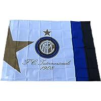 Bandiera INTER Ufficiale Bianca grande cm. 100 x 135 F.C.Internazionale BGINBI