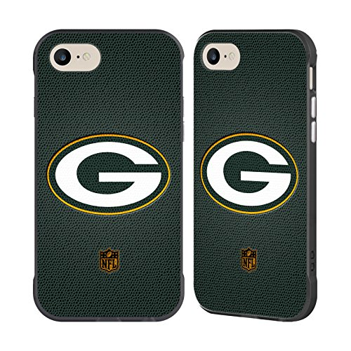Head Case Designs Offizielle NFL Fussball Green Bay Packers Logo Schwarz Fender Hülle für Apple iPhone 7/iPhone 8 (Schnitt Bay)