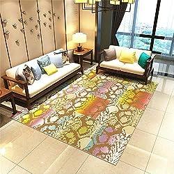 Nordic Style Area Teppich für Esszimmer und Schlafzimmer Moderne Mode Schlafsofa Seite kann kurzhaariger Teppich mit abstrakten Kunst Aquarell Muster gewaschen Werden