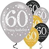 Amscan 9900741Latex-Luftballons 53,3cm zum 60. Geburtstag