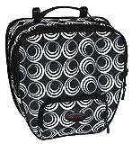 Haberland Fahrradtasche Einzeltasche Einhängehaken Passend Für Pletscher, Schwarz-Kreise, 32 x 34 x 16 cm, 1.5 Liter, EH8202 55