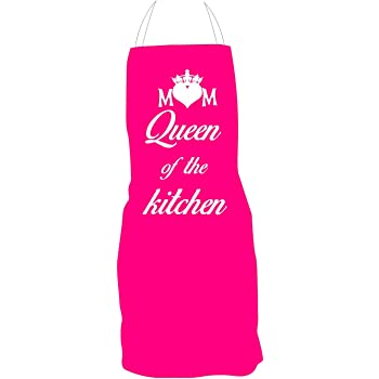 YaYa Cafe Mom Queen Of The Kitchen Apron For Mother Birthday Gifts