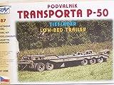 Modellbau Kunststoff Modellbausatz SDV Militaer 1:87 H0 Anhänger Tieflader Transporter P 50 Fahrzeuge Ostblock