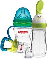 Kidzvilla Fisher Price Newborn Feeding Starter Kit (Green - Blue)