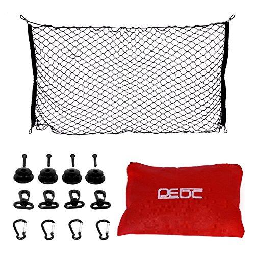 DEDC Red Elástica de Almacenaje para Maletero de Coche 110x50cm Horizontal Red de Malla de Nylon Organizador para Coche
