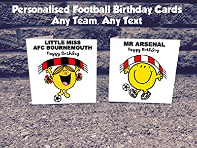 Personalised Any Football Team Birthday Card - EPL Soccer English Premier League