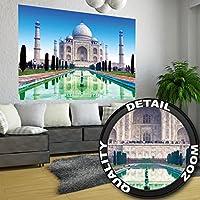 La meraviglia del mondo Taj Mahal in India fotomuraleLa meraviglia del mondo Taj Mahal in India fotomurale by GREAT ART XXL poster decorazione da parete 140 cm x 100 cm