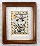 Accessoires Pour Maison De Poupées Miniature Sampler le baiser de le soleil Image Noix Cadre