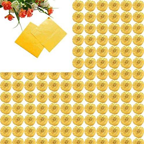 Gankmachine 100pcs Platz Aluminiumfolie Wrappers Bunte Paket für Süßwaren Süßigkeit Schokolade Lollipops