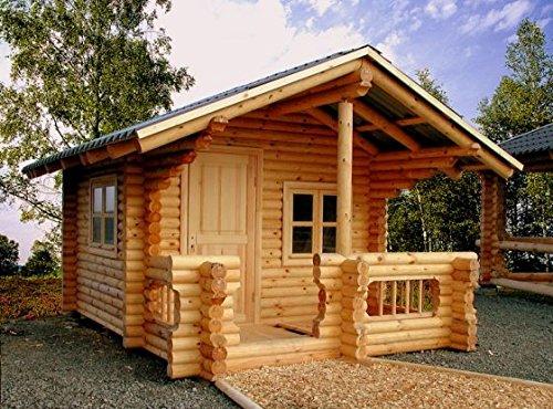 JUNIT Rundbohlenhaus RBH12 12m² Holzhaus Blockhaus Gartensauna Sauna