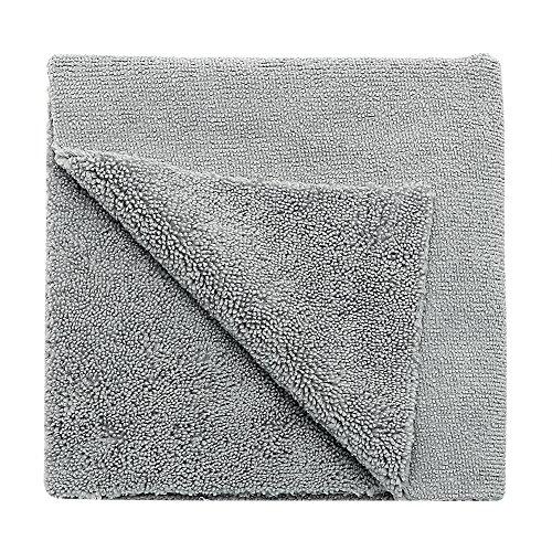 RunY 40 x 40 cm Wachs-Polier-Reinigungstuch zum Trocknen von Details Autowaschen, graue Autopflege Werkzeuge Mikrofaser-Handtuch Autowäsche - Detail Wachs