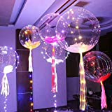 Pawaca LED Light Up Balloons,Premium Blinky Party Lights, Ideal for Christmas, Parties, Birthdays and Wedding Decorations, Lasts 8-24 Hours, Fillable with Helium By