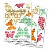 Kiwistar Schmetterlinge Retro, 21 Schmetterlinge, Oldschool Gesamtfläche , Wandsticker Set Bogen Aufkleber farbig DIN A4 DIN A1Gesamtfläche: ca. 80x60cm
