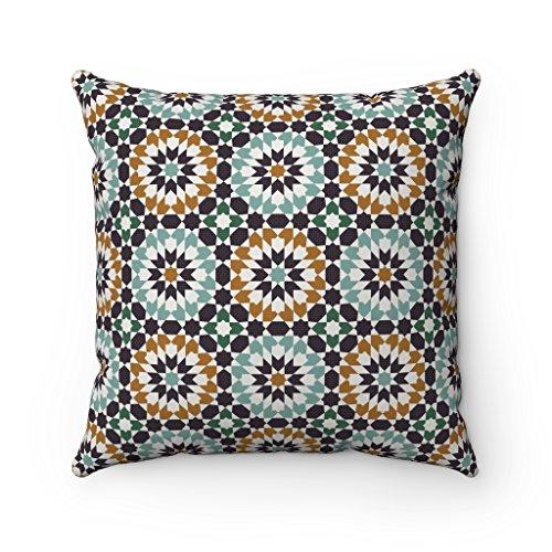 ische Design Original marokkanische Zellij Fliesen Home Decor Kissenbezug, Brown & Teal, 43 x 43 cm ()