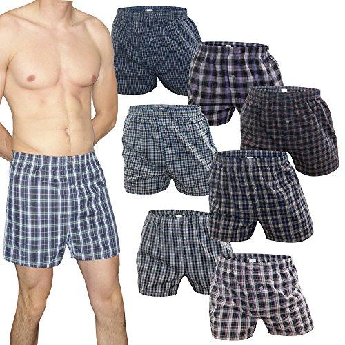 Unterhose Boxershorts für Herren 100% Baumwolle Kariert Karo Muster Bunt Boxer von SGS (6XL, 8.Stück) (Karo-boxer-unterwäsche)