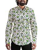 70er Jahre Punkte Partyhemd Dots Grün XL