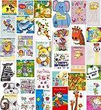 Kinder-Geburtstagskarten, verschiedene Motive, 30Stück