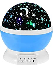 GOSFRID with GF Logo Plastic Glass Rotating 4 Mode Sky Star Master Mini Projector Lamp for Kid's Room Decor (Assorted Colour)