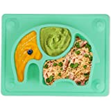 Baby Plates - SILIVO Upgraded Silicone Non-Slip Baby Placemat with Suction Cups for Infants,Toddlers and Kids(10'x7.8'x1…