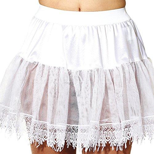 NET TOYS Petticoat mit Spitze Halbrock Rockabilly Unterrock Tüllrock Tütü Petticoats -