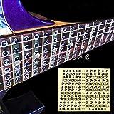 Generic frette Étiquettes Sticker Nail Art Nouvelle Guitare cou Palissandre touche Note Carte apprendre < 1and 1724* * * * * * * * 9>