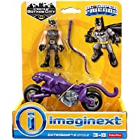 Imaginext - DRY84 - Fisher Price Toy - DC Super Friends - Motorcycle - Catwoman Action Figure - Batman Gotham