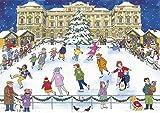 Alison Gardiner 'Christmas Ice Skating' Large Traditional Advent Calendar