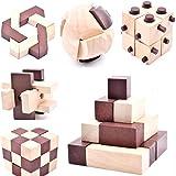 B&Julian ® 3D IQ Puzzle en Bois Enfants Adulte Casse-tête 10 Jeux Ensemble Idées de Contenu Advent