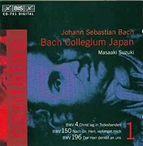 Bach : Cantates sacrées volume 1 BWV 4, 150, 196