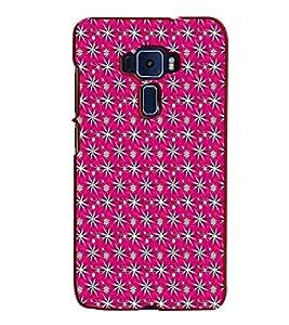 Fiobs Designer Back Case Cover for Asus Zenfone 3 ZE520KL (5.2 Inches) (Red Stars Tare Patterns Design )