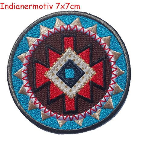 2-ecussons-patch-appliques-raison-ronde-indienne-7x7cm-union-jack-7x9cm-thermocollant-brode-broderie