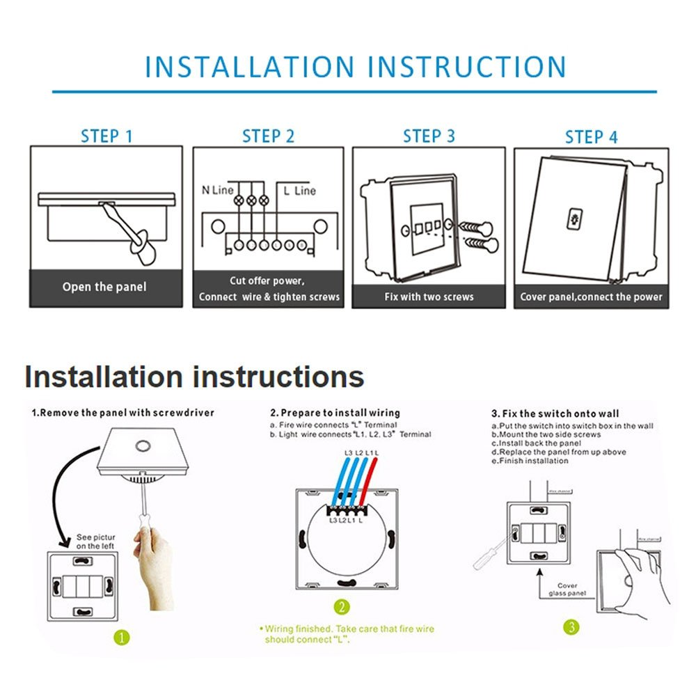 Smart Touch Bildschirm Switch Touch PanelFernbedienung Smart Light ...