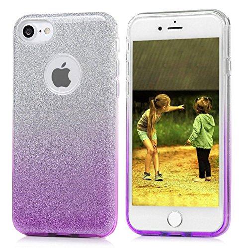 Yooky iphone 7 7S 4,7 Zoll Silikon Hülle Case Cover , Transparente weiche TPU klar kratzfest Blume Schutzhülle Hülle Tasche Kasten Auto für Apple Iphone 7 Style 1