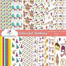 Nakshathra Designz Colorful Birthday pattern paper