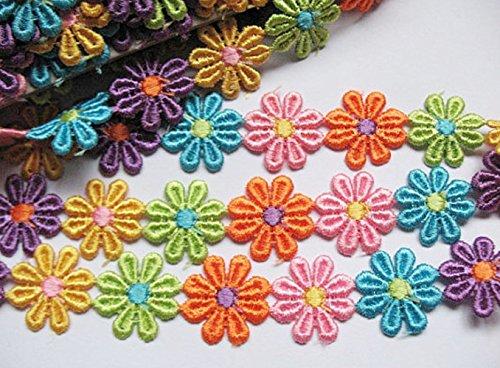 yycraft Stück 3Y Colorful Venise Lace 11/20,3cm Blume Trim (Craft Applique Trim)