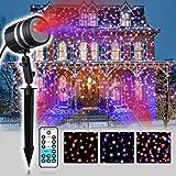 Weihnachts Light LED Beleuchtung für Innen und Außen im Aluminium Gehäuse mit Fernbedienung (JF02-100RB)