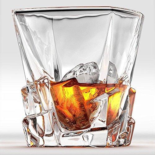 Cooko Iceberg Whisky Glser Kristallglas Whiskey Karaffe Wein Zubehr Fr Whiskeycocktail Bourbonsaft300ml 2 Er Set 106 Oz